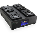 Core SWX FLEET-Q4US Four Position V-Mount Fast Simultaneous Li-Ion Charger with Touchscreen Diagnostic LCD