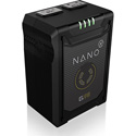 Core SWX NANO-G98 98wh Micro Gold Mount 3-Stud SMART Lithium Ion Battery 14.8v / 6.6Ah / 10A Draw w/ 4 LED Gauge