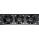 CT-FANRK-B Triple Rackmount Fan with Reversible Assembly 120VAC - Black - Plastic