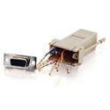 RJ45 to DB9 Female Modular Adapter - Gray