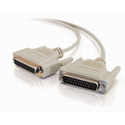 25ft DB25 Male to DB25 Female Null Modem Cable