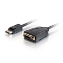 8 Inch DisplayPort 1.1 Male to DVI-D Female Adapter Cable