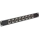 Connectronics CTX-8XFXM XLR Feed-Thru 1RU Patchbay 8-Female XLR Front/8-Male XLR Rear