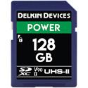 Delkin DDSDG2000128 POWER V90 UHS-II SDXC Memory Card 300/250 - 128GB