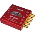 Decimator MD-QUAD Miniature 3G/HD/SD-SDI Quad Split Multiviewer with HDMI - Version 3