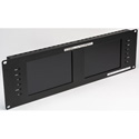 Delvcam Broadcast 3GHD/SD Multiformat Dual 7-Inch Rackmount Video Monitor B-Stock (Unit is Used)
