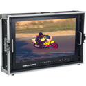 Delvcam DELV-4KSDI24 4K UHD HDMI 3G-SDI Quad View Broadcast LCD Monitor Mounted in Carrying Case - 24 Inch Bstock (Used)