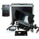 Delvcam 7in. Camera-Top SDI Monitor w/ Video Waveform and V-Mount Battery Plate