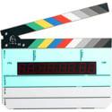 Denecke TS-3ELC Backlit Display Time Code Slate with Color Sticks