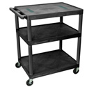 DaLite PIXMate PL2-42 Plastic Cart with 4 Inch Casters - Shelf Size 18 x 24 Inches