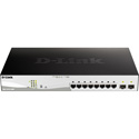 D-Link DGS-1210-10MP Ethernet Switch - 8 Network 2 Expansion Slot - Manageable TAA Compliant