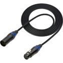 Sescom DMX-20 Lighting Control Cable 5-Pin XLR Male to 5-Pin XLR Female Black - 20 Foot