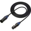 Sescom DMX-5 Lighting Control Cable 5-Pin XLR Male to 5-Pin XLR Female Black - 5 Foot