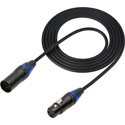 Sescom DMX-5M3F-10 Lighting Control Cable 5-Pin XLR Male to 3-Pin XLR Female Black - 10 Foot