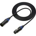 Sescom DMX-5M3F-15 Lighting Control Cable 5-Pin XLR Male to 3-Pin XLR Female Black - 15 Foot