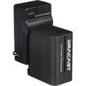 Dracast DRBK1NPF6600 Single Li-Ion Battery/Charger Combo 6600 mAh