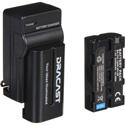 Dracast DRBK2NPF2200 NPF- Li-Ion Battery/Charger Combo 2200 mAh