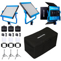 Dracast DRLK3X500DNS LED500 S-Series Daylight 3 Light Kit with NP-F Mount Battery Plates and Nylon Padded Travel Case