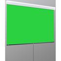 Draper V20201KG VCB Silhouette Series M 70 Inch x 70 Inch Manual Pull-Down Chroma Key Green Background