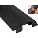 Duraline 3Ft Floor Cord Protector with Single 1.5 Inch x 0.5 Inch Channel-Black
