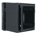 10 Space Sectional Wall Rack with Plexi Door