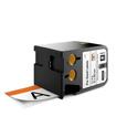 Dymo 1868713 XTL 2-Inch x 4-Inch (51 mm x 102 mm) Pre-Sized Label - Black on White w/Orange Header