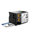 Dymo 1868715 XTL 2-Inch x 4-Inch (51 mm x 102 mm) Pre-Sized Label - Black on White w/Blue Header & Pre-Printed NOTICE