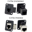Switchcraft EHRJ45P5ES RJ45 Cat5 Feedthru Panel Mount Connector (Shielded)