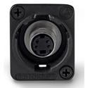 Switchcraft EHSVHS2BX XLR Mounting S-Video Feed-Thru Connector Black Housing