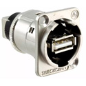 Switchcraft EHUSBABX USB-A to USB-B Barrel Connector - Silver