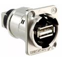 Switchcraft EHUSBABX USB-A to USB-B Barrel Connector - Silver