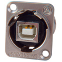 Switchcraft EHUSBBAX USB-B to USB-A Panel Mount Connector - Silver