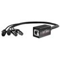 Elite Core Audio CAT-SASS-3PF Snake System - Ethernet Breakout with 4 XLRF 3-Pin Neutrik Connectors - Analog Audio