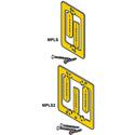 Single Gang Metallic Low Voltage Mounting Bracket for Drywall w/Screws