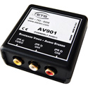 ETS AV900 Baseband BNC Video and RCA Stereo Audio AV Over CAT5 Balun