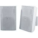 Electro-Voice EVID-S8.2TW 8 Inch Quick Install Cabinet Speaker - 70/100V - IP54 - White - Pair