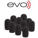 EVO-RWS-10 Waterproof Evo Windscreen - 10 Pack Black
