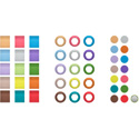 Sennheiser EW-D COLOR CODING SET Set of Magnetic Color Indicators for the EW-D Receivers & Transmitters - 48 Pieces