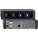 RDL EZ-HDA4B 1x4 Stereo Headphone Distribution Amp Rear-Panel Outputs