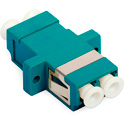 10-Gig LC to LC Duplex Multimode Fiber Optic Coupler with Flange