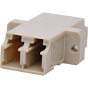 LC to LC Multimode Duplex Fiber Optic Coupler Adapter Bronze Sleeve with Flange