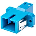 Camplex LC to SC Single Mode Simplex Flanged Fiber Optic Coupler - Plastic