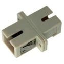 SC to SC Fiber Adapter Simplex Multimode with Bronze Sleeve & Plastic Flange