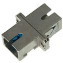 SC to SC Fiber Adapter Simplex Singlemode with Zirconia Sleeve & Metal Flange