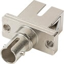 ST to SC Simplex Single Mode and Multimode Coupler with Flange Ceramic Sleeve & Metal Body
