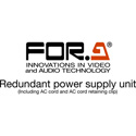 FOR-A FA-96PS Redundant Power Supply Unit with AC Cord and Retaining Clip