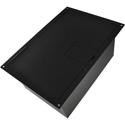 FSR FL-1500-2D-BLK FL-1500 Punched Floor Box for 2 Duplex - Black Sandtex Paint- Hinged Lid