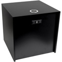 FSR HBM-LG-BLK Huddle Blox HBM-LG-BLK 22 Inch Cube with AC USB Charger and TC-WC1 Qi Wireless Charger - Black