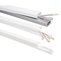 Quest FWH-13411  1 1/2 x 48 Inch Low Voltage Cable Raceway (Each) - White