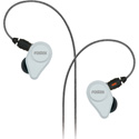 Fostex TE-04WH Clear White In-Ear Headphones with Detachable Cable and Mic